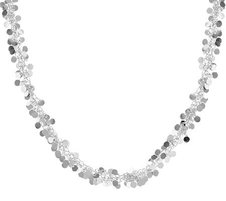 "Vicenza Silver Sterling 18"" Confetti Design Necklace, 19.0g"