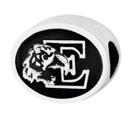 Sterling Silver Eastern Michigan University Bead