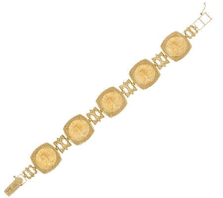14k 22k Gold Solid Multi Liberty Coin Bracelet