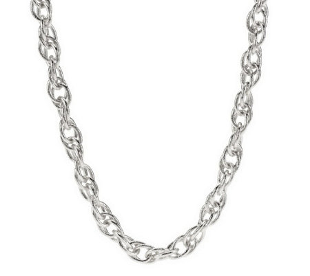 """As Is"" Textured Interlocking Chain Necklace by VT Luxe"