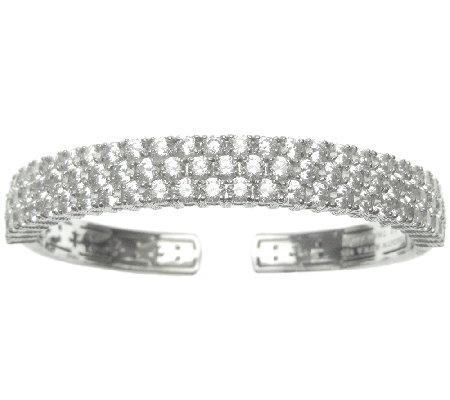 Judith Ripka Sterling 8.50 cttw 118-Facet Diamonique Cuff