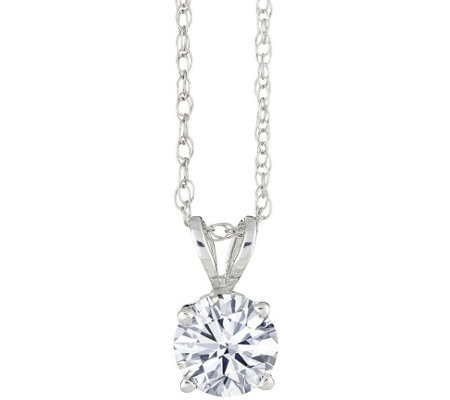 Affinity 3/4 ct Round Diamond Pendant w/ Chain, 14K Gold