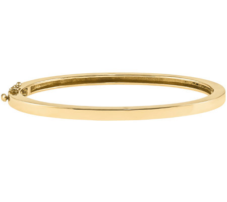 14K Gold Solid Hinged Bangle, 25.0g