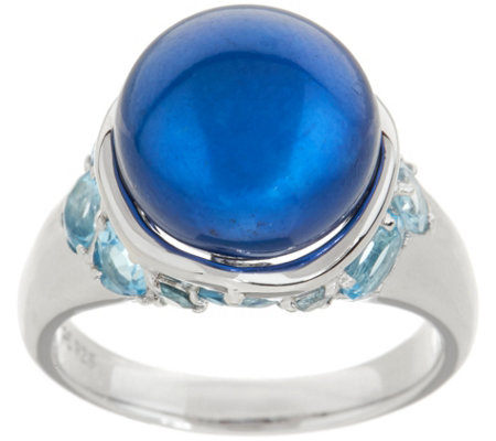 Honora Cultured Pearl & Multi-Cut Gemstone Sterling Ring