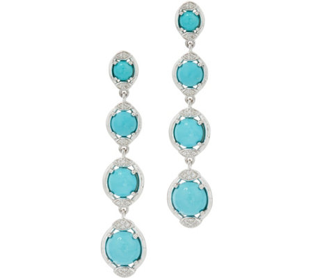 Sleeping Beauty Turquoise Sterling Silver Drop Earrings