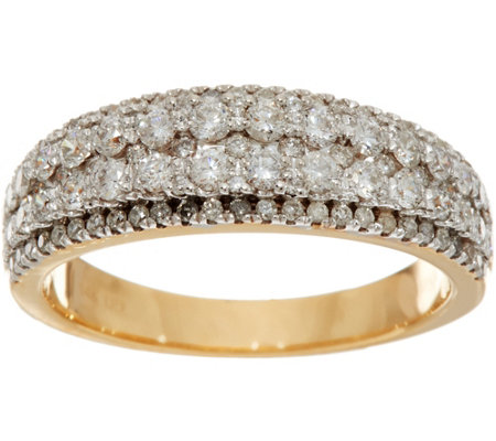 """As Is"" Milestone Diamond Ring 14K, 1.00 cttw, by Affinity"