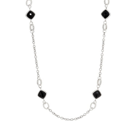 "Tiffany Kay Studio Sterling Silver Onyx 18"" Necklace"
