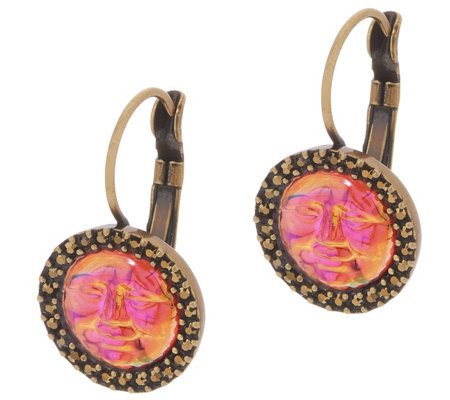 Kirks Folly Seaview Water Moon Leverback Earrings