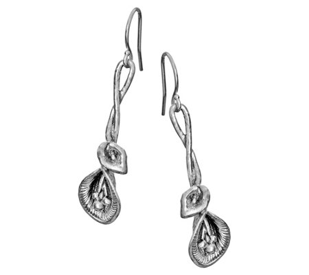 Or Paz Sterling Silver Calla Lily Dangle Earrings