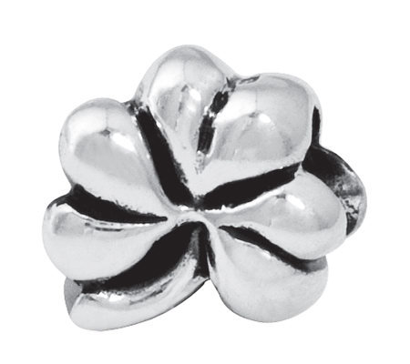 Prerogatives Sterling Silver Clover Bead