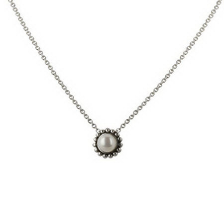 Honora Girls Flower Sterling Cultured Freshwater Pearl Pendant