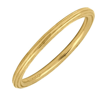 Simply Stacks 18K Yellow Gold-Plated Sterling Ring with Edgin