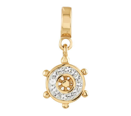 Prerogatives 14K Gold-Plated Sterling SwarovskiWheel Bead
