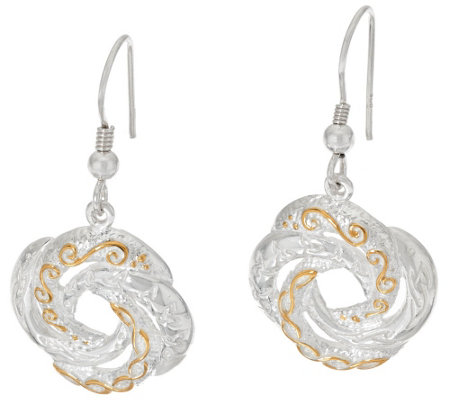 JMH Jewellery Sterling Silver Love Knot Drop Earrings