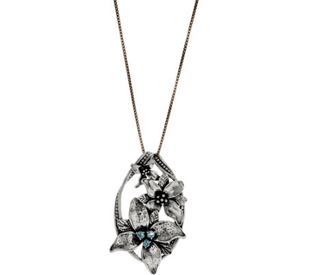 Or Paz Sterling Silver Multi-Flower Pendant with Chain
