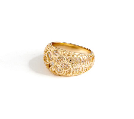 Italian Gold Open Work Ring, 14K Gold
