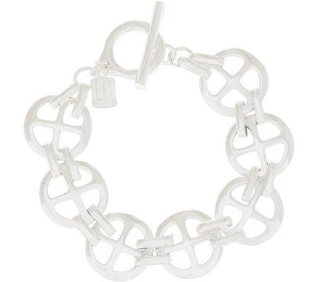 Rlm Bronze Clover Cross Bracelet