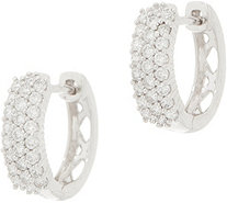 Affinity Diamond 14K Gold Huggie Hoop Earrings, 1/2 cttw - J358842
