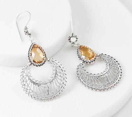 Artisan Crafted Gemstone Chandelier Earrings