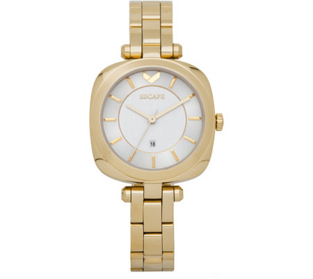 Escape Ladies Goldtone Cushion Case Watch