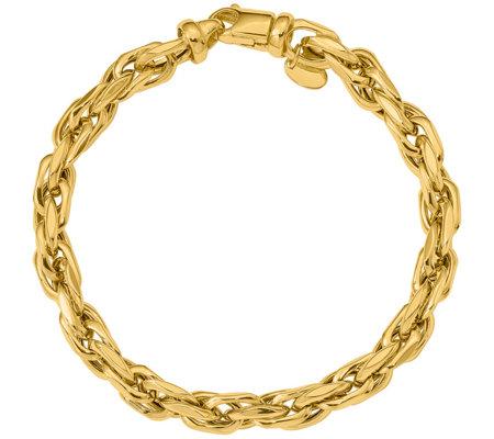 Italian Gold Bold Oval Link Bracelet 14k 11 9g