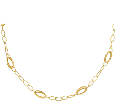 14K Gold Open-Link Necklace, 4.0g