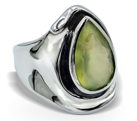 Hagit Sterling 4.20 ct Prehnite Ring