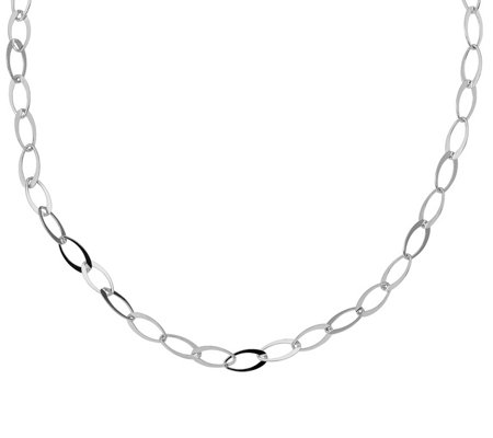 Italian Silver Bold Oval Link Necklace Sterling, 10.8g