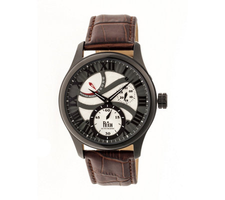 Reign Bhutan Automatic Watch - Black/Brown