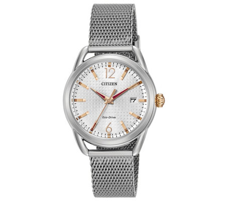 Citizen Eco-Drive Stainless Mesh Band Watch