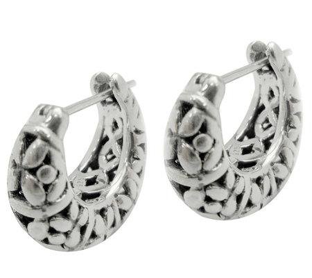 Sterling Silver Tapered Huggie Earrings