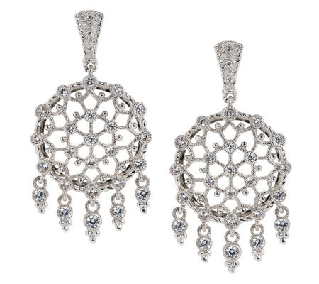 Judith Ripka Sunlace 2 1ct Diamonique Sterling Earrings