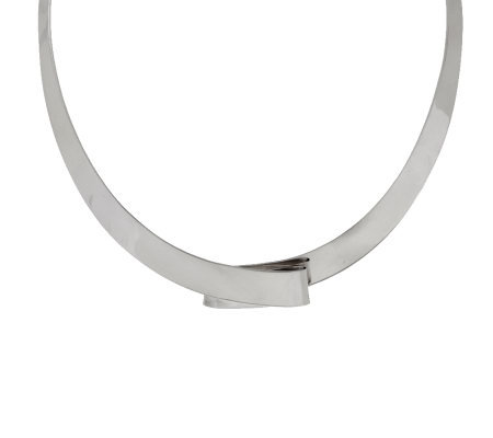 """As Is"" Dominique Dinouart Sterling Ribbon Collar, 42.0g"