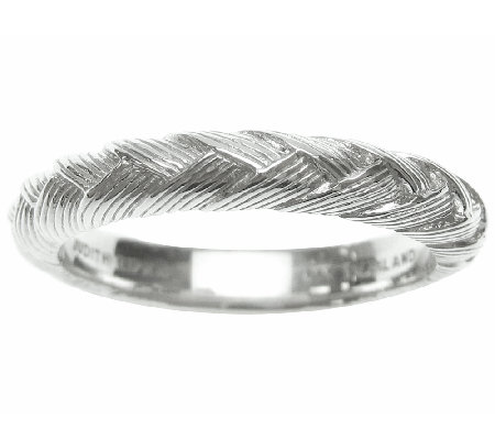 Judith Ripka Sterling Braided Berge Band Ring