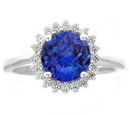 Premier 2.00cttw Round Tanzanite & Diamond Ring, 14K