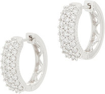 Affinity Diamond 14K Gold Huggie Hoop Earrings, 1.00 cttw - J358843