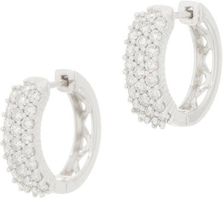 Affinity Diamond 14k Gold Huggie Hoop Earrings 1 00 Cttw