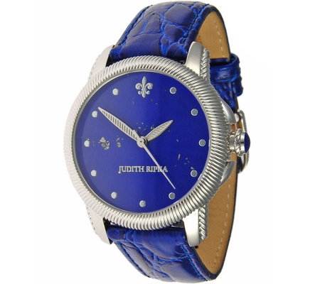 Judith Ripka Stainless Steel Gemstone Dial Watch