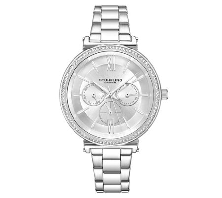 Stuhrling Women's Aria Multi-Function Watch with Silver Dial