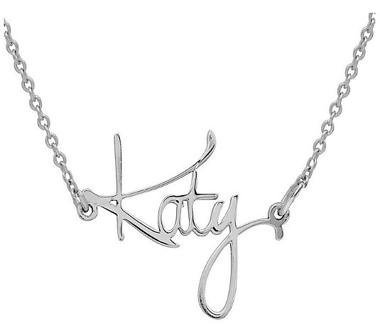 Katy Style Personalized Sterling Silver Necklace Qvc Com