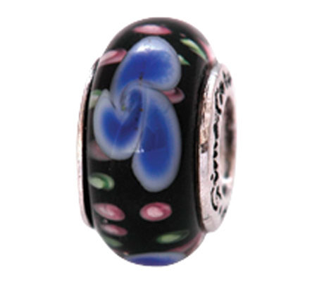 Prerogatives Sterling Blue Shapes Glass Bead