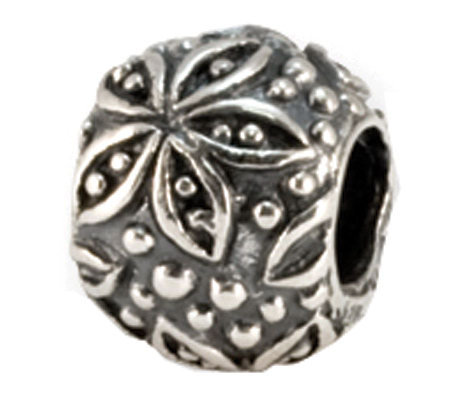 Prerogatives Round Floral Bead