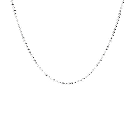 "UltraFine Silver 18"" Diamond Cut Bead Chain, 5.7g"