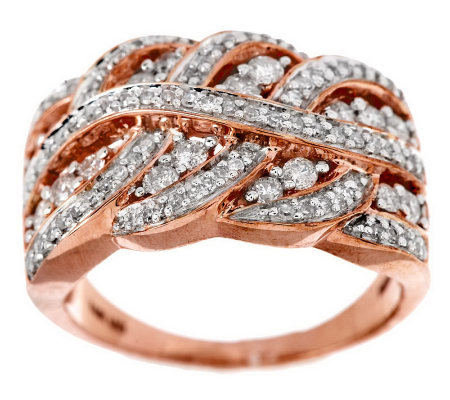 Braided Design Diamond Ring, 14K Gold, 3/4 cttw, by Affinity