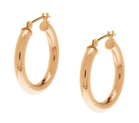 Eternagold Clic Polished Hoop Earrings 14k Gold