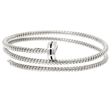 Vicenzasilver Sterling Nail Head Tubogas Coil Wrap Bracelet