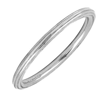 Simply Stacks Sterling Silver 1.5mm Ring with Edging