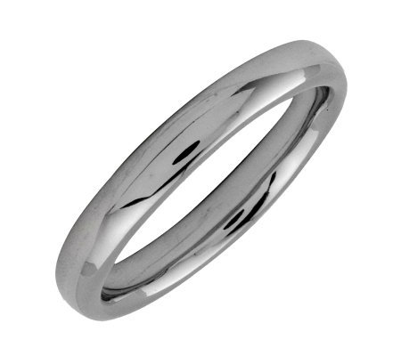 Simply Stacks Sterling Black Rhodium Plated 3 25mm Ring