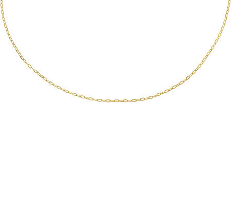 "16"" Polished Cable Chain, 14K Gold"