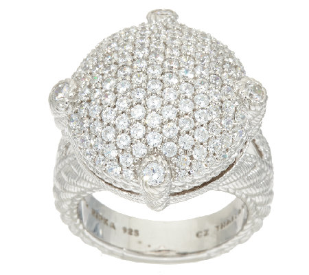 Judith Ripka Sterling_Pave' 1.45 cttw Diamonique Ring